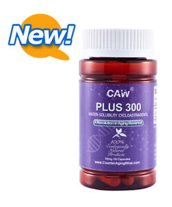 CAW Telomere Support Supplement - PLUS 300 Water-solubility Cycloastragenol