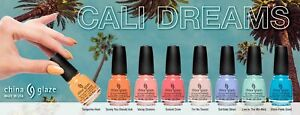 China Glaze Nail Lacquer - CALI DREAMS Spring 2021 Collection Set 8pcs