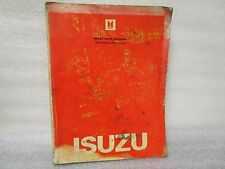 1983 ISUZU WORKSHOP MANUAL IMPULSE (JR) 2-90999-103-3