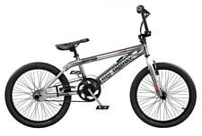 "2019 Rooster Big Daddy Kids 20"" Wheel Freestyle BMX Bike Chrome Gyro RS128"