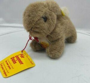 Vintage German STEIFF HOPPY RABBIT Toy + Ear Button & Tags id no. 1500/09 Easter