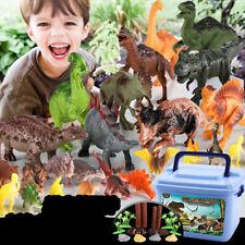 44pcs Large sized Dinosaur Set Playset Animal Action Figures Toys Kids Best Gift