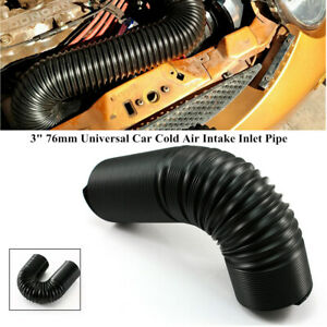 """3"""" 76mm Universal Car Truck Cold Air Intake Inlet Pipe Flexible Duct Tube Hose"""