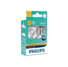 Philips PY21W LED Ultinon Amber turn signal bulbs 11498ULAX2 +smartCanbus BAU15s