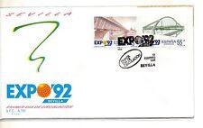 España Expo 92 Sevilla Primer día de Circulación año 1991 (CX-980)