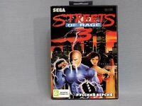Streets of Rage Sega Genesis Mega Drive.