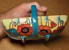 Old Tupton Ware Poppy Pattern Decorative Porcelain Garden Trug Basket