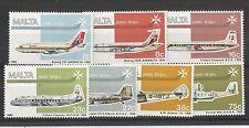 MALTA 1984 Air SG, 729-735 UM/M NH LOTTO 2147a
