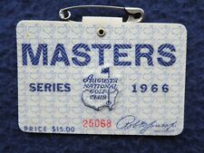 Vintage 1966 Augusta National Masters Golf Tournament Badge won by Jack Nicklaus