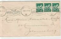 South Africa 1942 Port Shepstone Cancel Slogan Army Stamps Cover Ref 29931