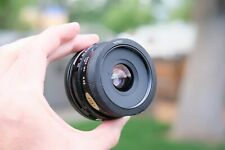 TAMRON 28MM F2.5 CANON C/FD WIDE ANGLE LENS MANUAL FOCUS WITH FILTER *MINT