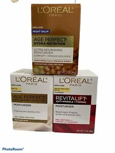 L'Oreal Paris Age Perfect Hydra-Nutrition Night, Anti-Sagging & Revitalift Lot 3