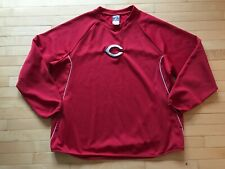 Cincinnati Reds Majestic Baseball Thermabase Fleece Pullover Mens Sz XXL