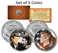 PRESIDENT JOHN F. KENNEDY Jackie/John Jr. Famous Quote on JFK U.S. 2-Coin Set