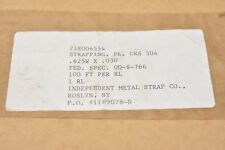 """Independant Metal Strap Co. 218006554, Crs 304 Metal Strapping .625""""x.030"""" 100ft"""