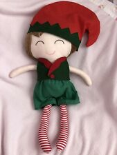 Christmas Soft Doll Santas Elf Cuddle Comfort Xmas Eve Box Idea