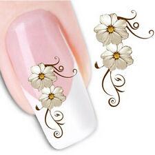 Nail Art Sticker Water Decals Transfer Stickers Cream Flowers (XF1013)
