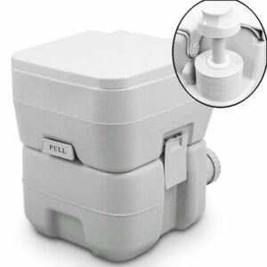 BITUXX Tragbare Campingtoilette Reise WC 20L mit Kolbenpumpe und Doppelspühlung