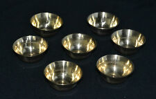 Set of 7 Plain Brass votive and pray offering cups Tibetan Buddhist Made Nepal