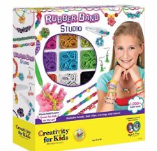 Creativity For Kids Rubber Band Studio 1000+ Hand Held Loom, Beads, Hair Clips..