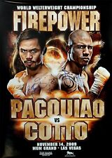 Manny Pacquiao vs. MIGUEL COTTO/double original signé sur le site de Boxe Poster