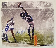 "ODELL BECKHAM JR. Autographed ""The Catch"" 22 x 26 Canvas STEINER"