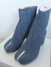 New Maison Martin Margiela Woven Denim and Leather Tabi Boots - Last Pair!!
