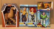 Disney Toy Story Woody Jessie Bullseye Buzz Slinky Talking Lot of 5