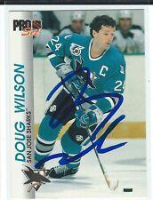 Doug Wilson Signed 1992/93 Pro Set Card #165