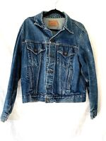 Vintage LEVIS MEN'S Jean Denim Trucker Jacket Size 44 - EUC
