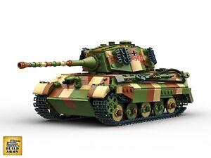 Buildarmy® WW2 King Tiger (Tiger II) Camouflage Patterns Brick Set
