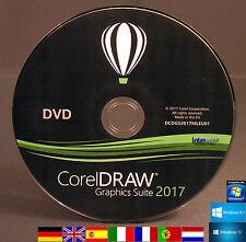 Corel Draw Graphics Suite 2017 Installations-DVD Vollversion / Upgrade DE/ML NEU