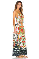 new CAMILLA FRANKS SILK SWAROVSKI LA ROSA LOW BACK LAYERED DRESS sz 2 & 3