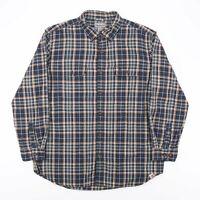 CARHARTT Relaxed Fit Green American Long Sleeve Check Shirt Mens XL