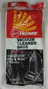 2 Packs of 3 Hoover Type D Vacuum Cleaner Bags Dial-A-Matic Vintage 6 Total Bags