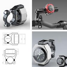 Reloj de Manillar + Montaje Aleación Impermeable De Motocicleta De Temperatura Luminoso Led