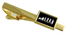 Evolution Ape To Man Graduation Gold-Tone Tie Clip Engraved Message Box