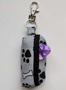 DOG POO BAG HOLDER - leash bag - dog waste, dog walking - Washable - Handmade