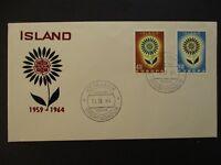 1964 Reykjavik Utgafudagur Iceland Island Europa Stamp First Day Cover