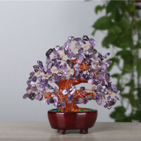 7inch Feng Shui Crystal Money Wealth Luck Tree for Office Home Desk Decor #6