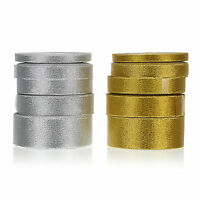 25 Yards Various Sizes Gold/Silver Satin Ribbon Christmas Party Decoration X'mas