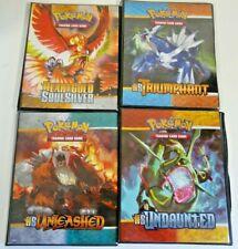 4x Pokemon Ultra Pro HS Undaunted Triumphant Unleashed HGSS 9 pocket Folder Used