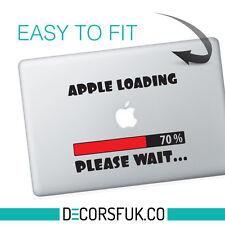 New Apple loading Macbook Decal on black vinyl | Laptop sticker | Macbook Decals