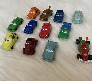 Lot Of 12 Disney Pixar Cars PVC Mini Figure Cake Toppers Micros Plastic Toys