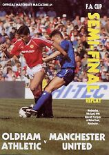 F A Cup Semi 1990 REPLAY Man Utd Oldham Comme neuf PROGRAMME MANCHESTER