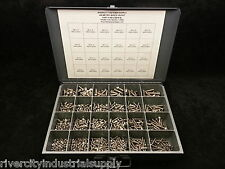 Metric 18-8 Stainless Steel Button Head Cap Screw Assortment 1250pcs M4 M5 M6 M8