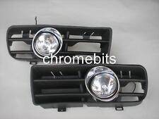 FRONT FOG LIGHTS LAMPS GRILLE SET FOR VW NEBELSCHEINWERFER GOLF MK4 IV 1997-2006