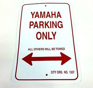 """VOSS SIGNS YAMAHA PARKING ONLY - ALUMINUM SIGN 12"""" X 18"""" 1218YPK OPEN BOX BLEM"""