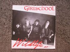 """GIRLSCHOOL """"WILDLIFE""""+""""DON'T STOP""""&""""DON'T CALL IT LOVE"""" 1982 VG-/VG OOP 7"""" W/PS"""