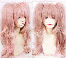 Danganronpa Junko Enoshima Cosplay Ponytails Synthetic Hair Wig